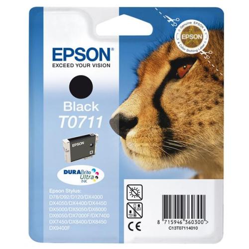 Epson T0711, 245 stran - originální černá