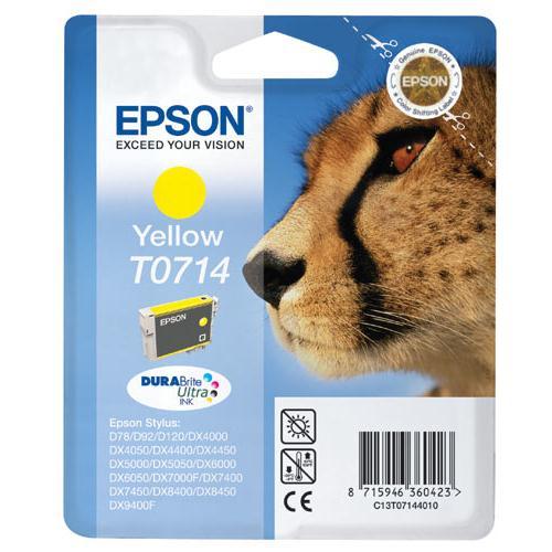 Epson T0714, 405 stran - originální žlutá
