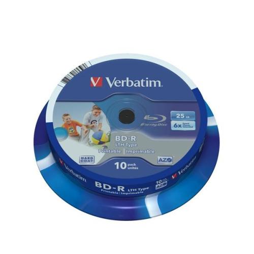 Verbatim BD-R SL 25GB, 6x, printable, 10-cake