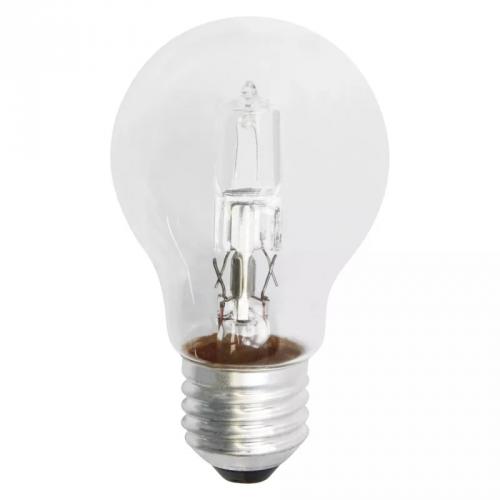 Fotografie Emos Halogenová žárovka Classic A55, 18W/24W E27, teplá bílá, 205 lm, Classic C