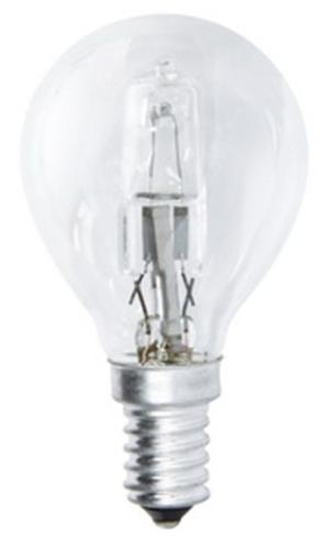 Fotografie Halogenová žárovka ECO Mini Globe 42W E14 teplá bílá, stmív