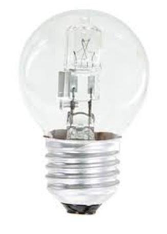 Fotografie Emos Halogenová žárovka MINI GLOBE, 18W/24W E27, teplá bílá, 205 lm, Classic C