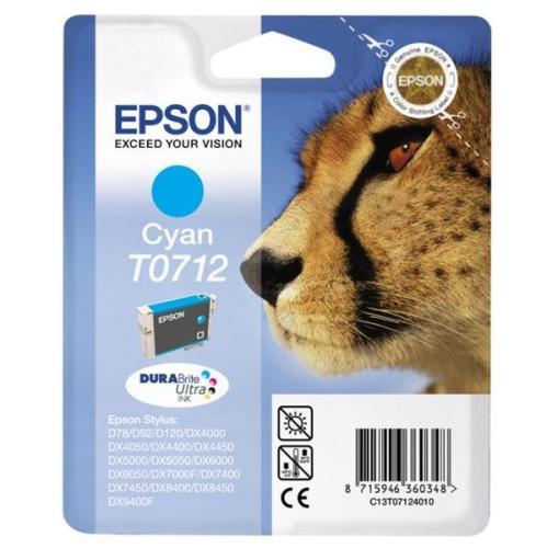 Epson T0712, 375 stran - originální modrá