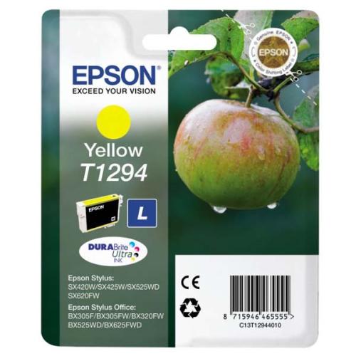 Epson T12944011, 485 stran - originální žlutá