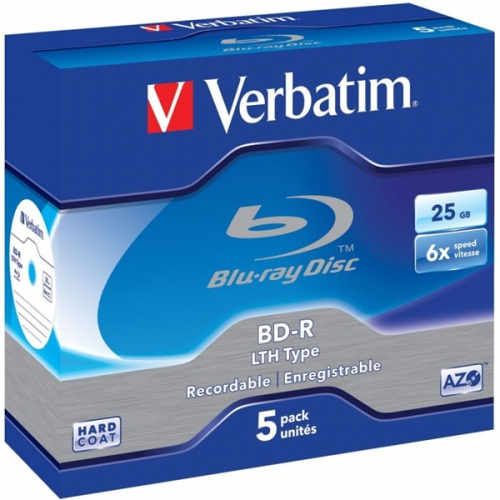 Verbatim BD-R 25GB, 6x, jewel, 5ks