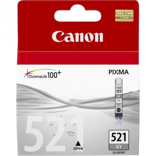 Canon CLI-521GY, 1370 stran - originální šedá