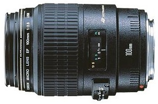 Canon EF 100mm f/2.8 USM MAC makroobjektiv černý