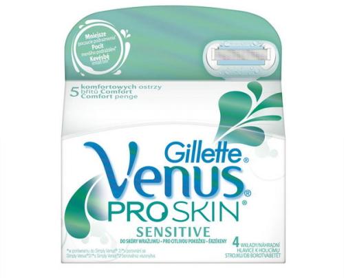 Náhradné hlavice Gillette Venus Proskin 4ks Sensitive