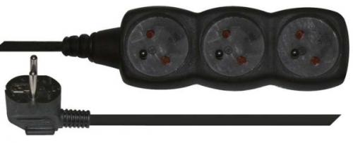 Fotografie EMOS 3x zásuvka, 3m (1902230300) černý