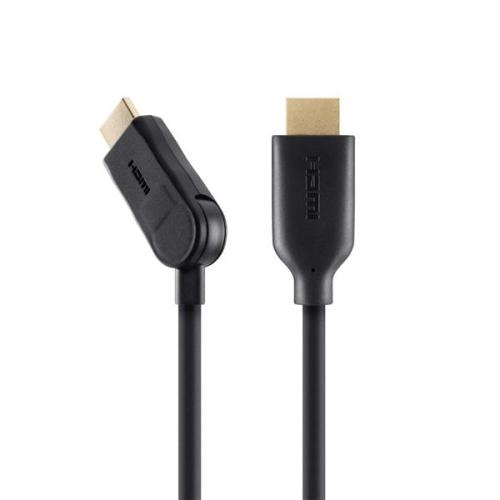 Belkin HDMI 1.4, 2m, 90° úhlový konektor černý