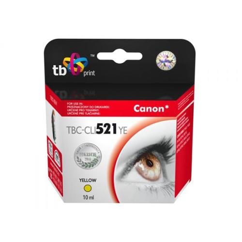 TB Canon CLI-521Y - kompatibilní žlutá