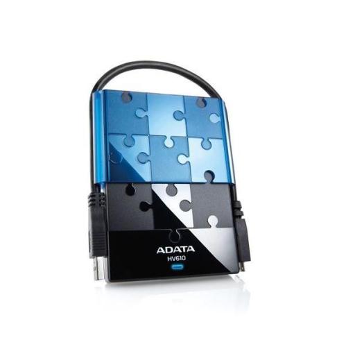 A-Data DashDrive Puzzle HV610 1TB USB 3.0 černý/modrý
