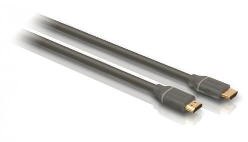 Kabel Philips HDMI, pozlacené konektory, 1,5m černý