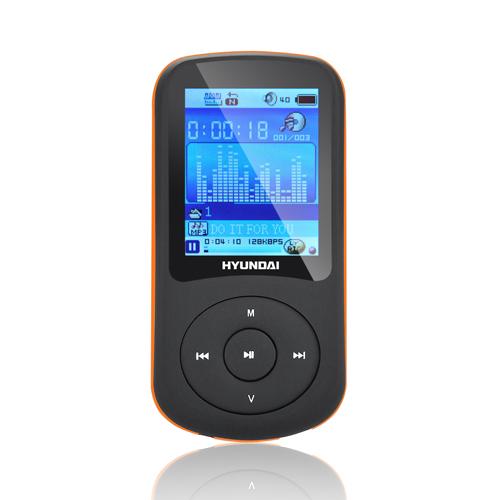 Hyundai MPC 401 FM, 8GB černý/oranžový