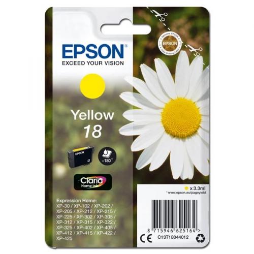 Epson T1804, 180 stran - originální žlutá