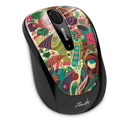 Microsoft Wireless Mobile Mouse 3500 Artist Zansky