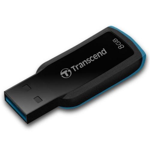 Fotografie Transcend JetFlash 360 8GB černý/modrý (TS8GJF360)