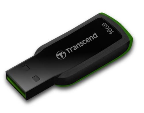 Transcend JetFlash 360 16GB černý/zelený