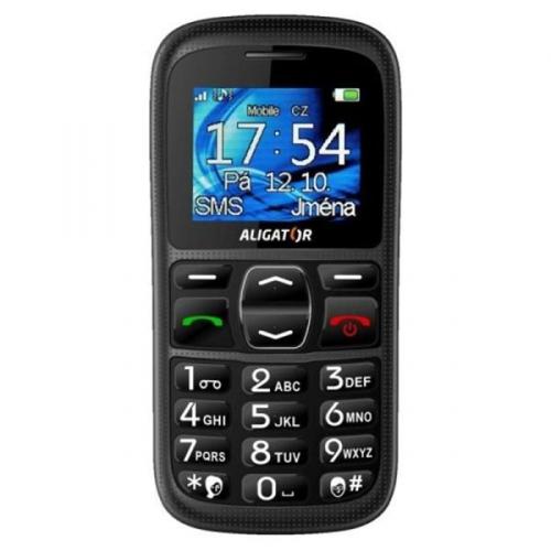 Mobilní telefon Aligator A420 černý + dárky