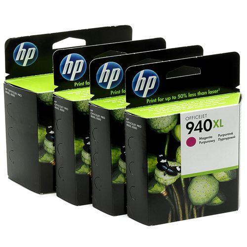 HP No. 940XL, 38ml - originální černá/červená/modrá/žlutá