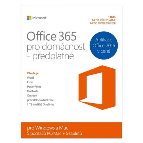 Microsoft Office 365 pro domácnosti CZ (6GQ-00140)