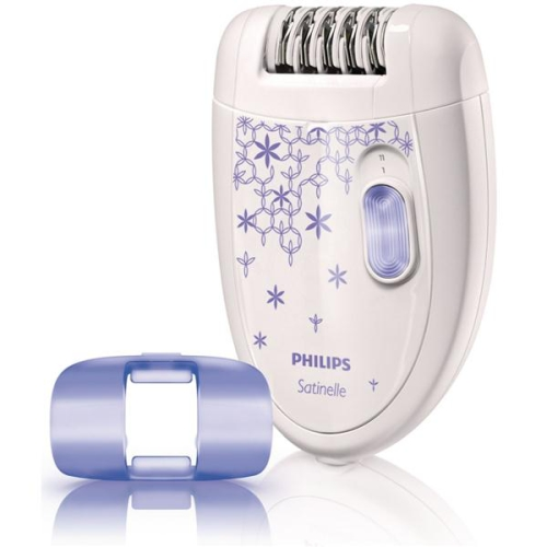 Philips Satinelle Soft HP6421/00 bílý/fialový