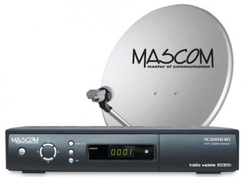 Mascom MC2600/80MBL+karta Skylink Standart M7, příjem 2 družic černý