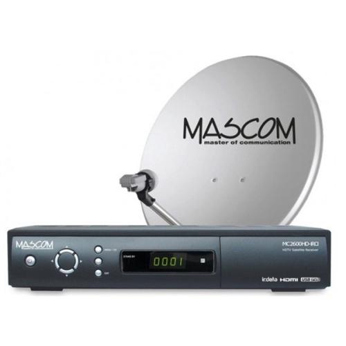 Mascom MC2600/80M3+karta Skylink Standart M7, příjem tří družic černý