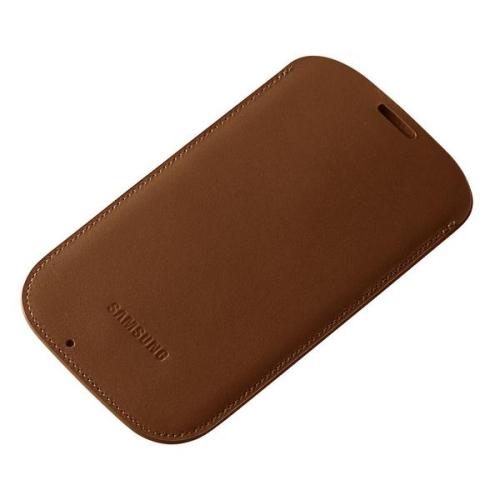 Samsung pro Galaxy S4 kožené (EF-LI950BAE) hnědé