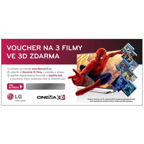 Voucher LG 3ks 3D BluRay filmů