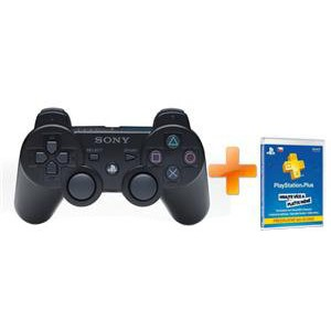 Sony DUALSHOCK 3 + Karta PlayStation Plus - předplatné 90 dní (PS719235064)