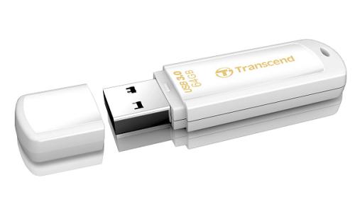 Fotografie Transcend JetFlash 730 64GB bílý (TS64GJF730)