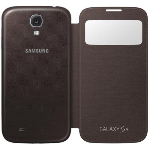 Samsung EF-CI950BAEG flip S-view pro Galaxy S4 (i9505) hnědý