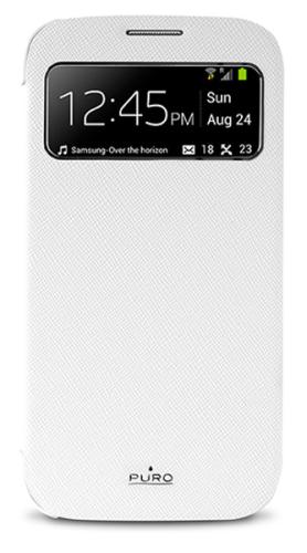 Puro Booklet View pro Samsung Galaxy S4 bílé