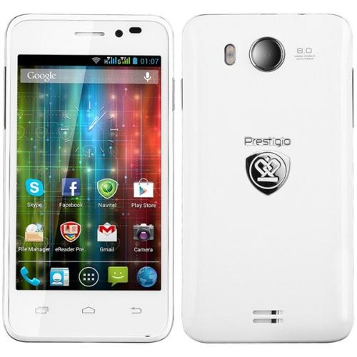 Prestigio MultiPhone PAP5400 DUO bílý