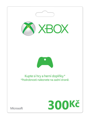 Microsoft Xbox 360 Xbox LIVE FPP Czech Czech Republic 300 CZK