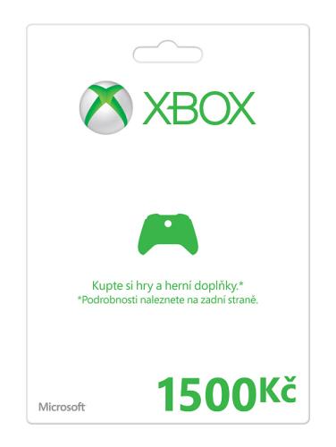Microsoft Xbox 360 Xbox LIVE FPP Czech Czech Republic 1500 CZK