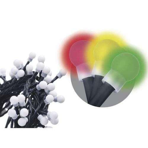 EMOS 80 LED, 8m, řetěz, vícebarevná, i venkovní použití