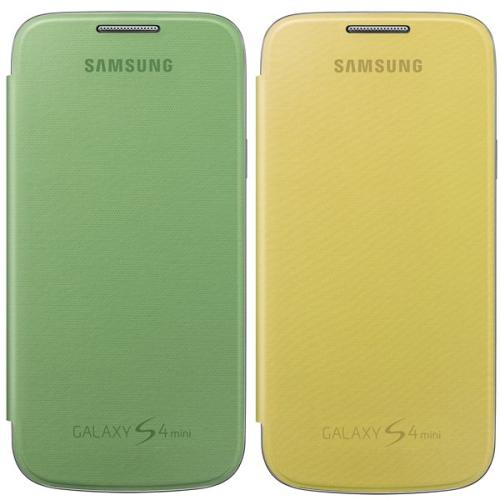 Samsung EF-FI919BZEG flip pro Galaxy S4 mini (i9195) žlutý/zelený