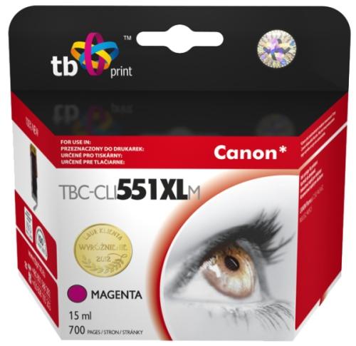 Fotografie TB Canon CLI-551XL - kompatibilní červená (TBC-CLI551XLM)
