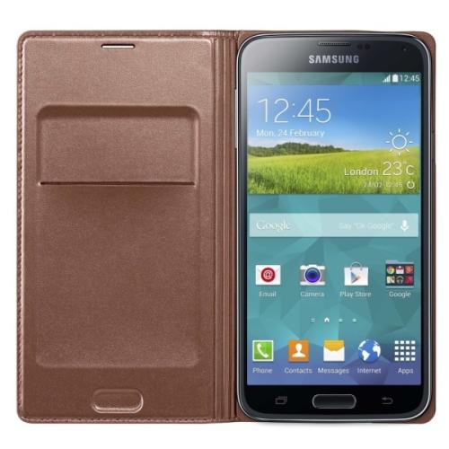 Samsung pro Galaxy S5 s kapsou (EF-WG900BF) zlaté