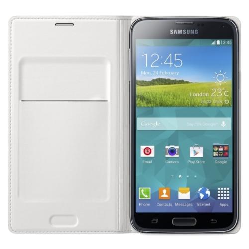 Samsung pro Galaxy S5 s kapsou (EF-WG900BW) bílé