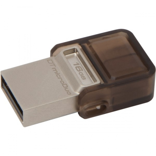 Kingston DataTraveler MicroDuo 16GB OTG hnědý
