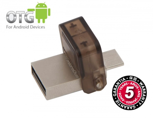 Kingston DataTraveler MicroDuo 32GB OTG hnědý