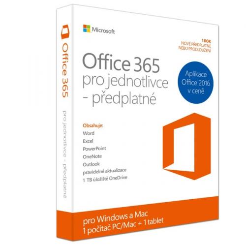 Microsoft Office 365 pro jednotlivce CZ (QQ2-00064)