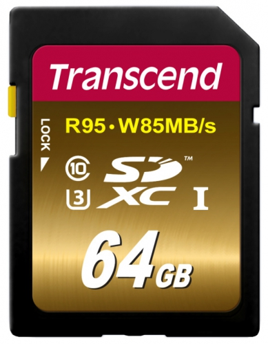 Transcend SDXC Ultimate 64GB UHS-I U3 (95MB/s)