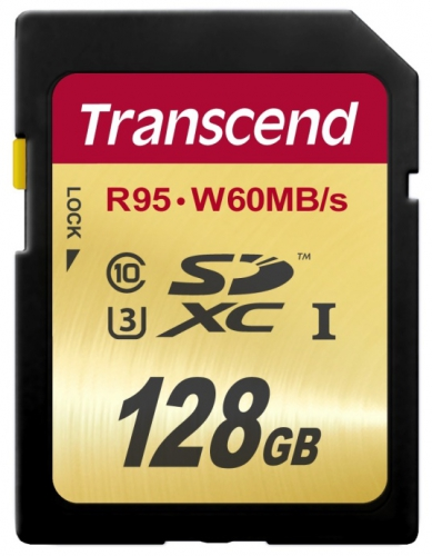 Transcend SDXC Ultimate 128GB UHS-I U3 (95MB/s)