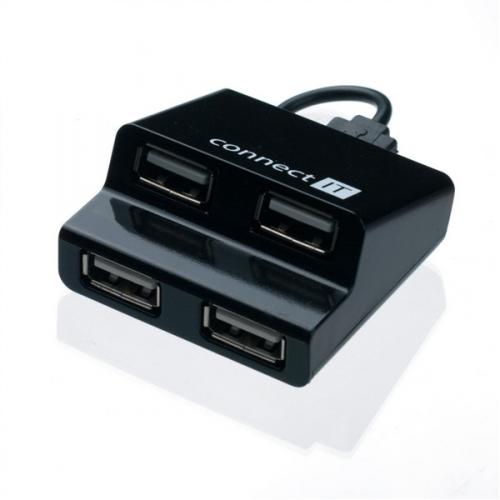 Connect IT (CI-108) USB 2.0 / 4x USB 2.0 černý