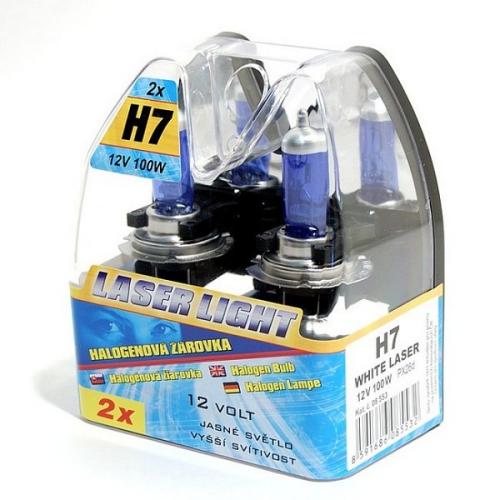 Autožárovka Compass 12 V H7 100W WHITE LASER 2 ks