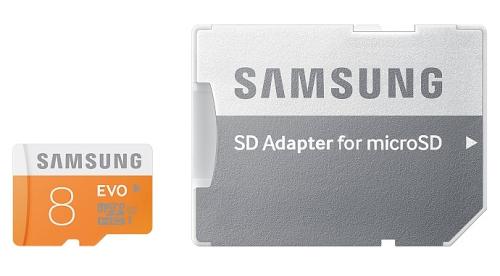 Samsung Micro SDHC EVO 8GB UHS-I U1 (48R/10W) + adapter